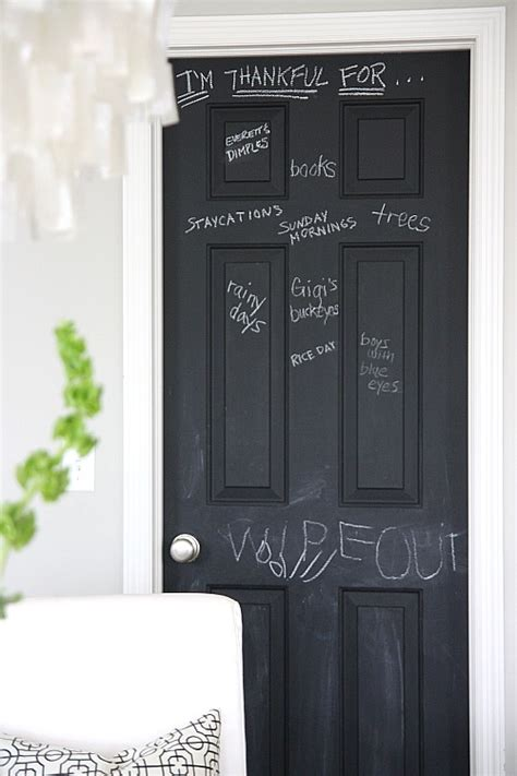 chalkboard paint door bloom january 2011