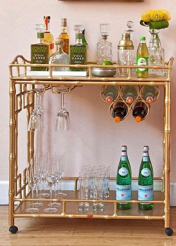gold drinks trolley   love the faux bamboo and drinks