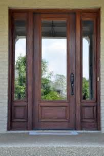 Glass Panels For Front Doors 25 Best Ideas About Wood Front Doors On Front Doors Exterior Doors And Entry Doors