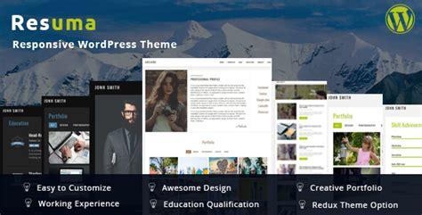 resuma resume portfolio responsive theme by bdtask themeforest
