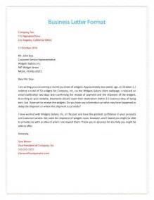 how to write a business cover letter sle business letter format with thru cover letter