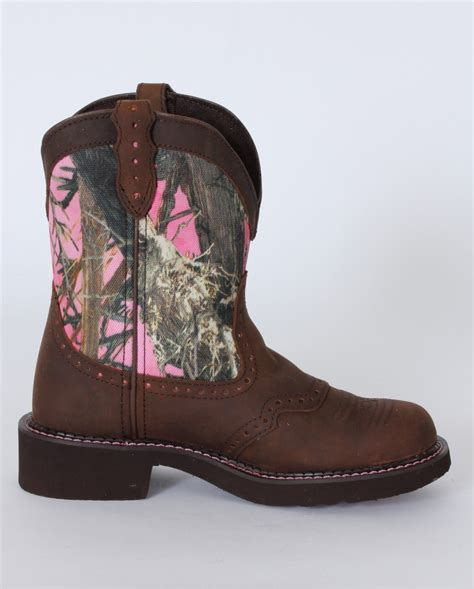 justin 174 pink true timber camo 8 quot boots fort brands