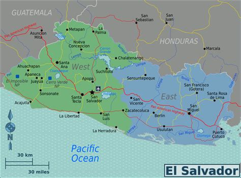 el salvador map el salvador travel guide at wikivoyage