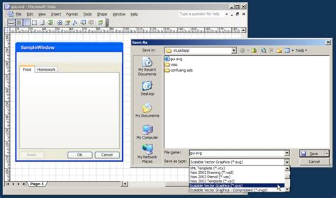 visio mockup stupidapp howto create vector application mockups using