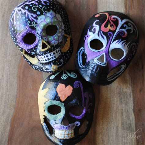How To Make A Skull Mask Out Of Paper - 13 diy masks for any of shelterness