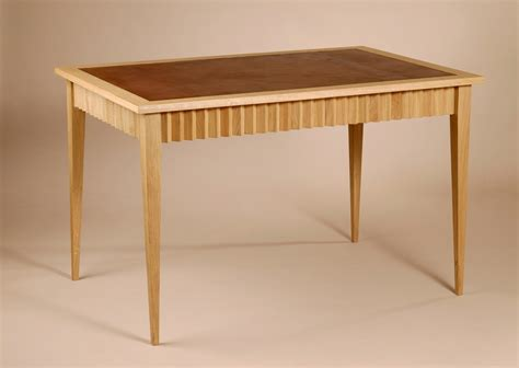Oak Wood Desk by Corinthe Desk Solid Oak Wood And Stretched Leather