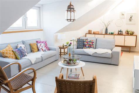 gemütliches sofa romantische schlafzimmer gardinen ikea