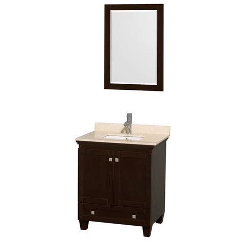 wyndham collection wcv800024sescxsxxm24 acclaim 24 wyndham collection acclaim 30 in vanity in espresso with marble vanity top in ivory undermount