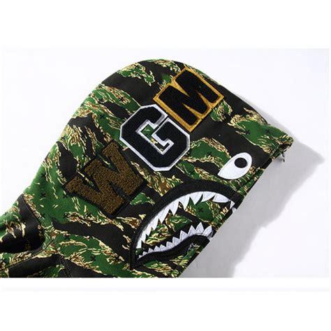 Bape Hoodie Shark Green Camo a bathing ape bape wgm camo shark hoodie green black
