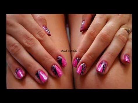 theme rose et noir tutoriel nail art 11 rose et noir youtube