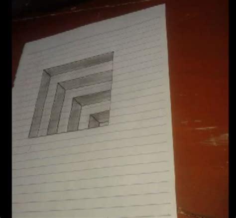cara membuat gambar naruto 3d dengan pensil cara membuat gambar 3d di kertas menggunakan pensil
