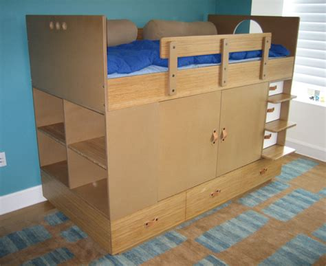 Childrens Bed With Wardrobe Underneath by Storage A Closet The Bed
