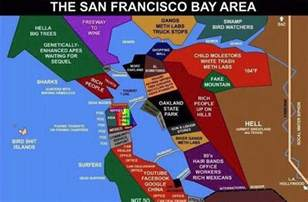 San Francisco Bay Area Map by The Quiet Rage San Francisco Bay Area Map