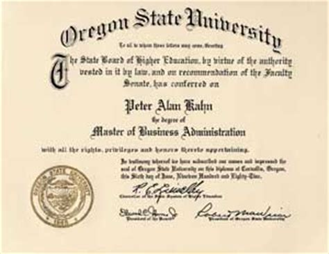 Certificate Prgram Mba Protland State by Oregon State Education