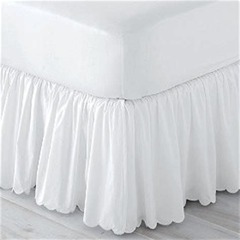 scalloped bed skirt scalloped bedskirt traditional bedskirts by the
