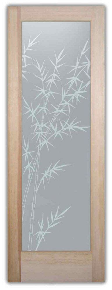 privacy glass doors inserts frosted glass bamboo etched