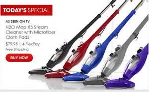 h2o mop x5 steam cleaner w microfiber cloth pads just 79