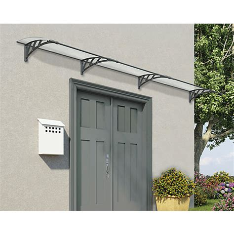over the door awnings palram neo 4050 twinwall polycarbonate door canopy grey