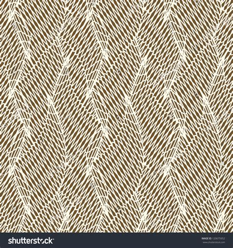 pattern brown line seamless brown abstract line floral pattern stock vector