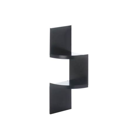 Zig Zag Wall Shelf by Wholesale Zig Zag 2 Tier Corner Wall Shelf Black