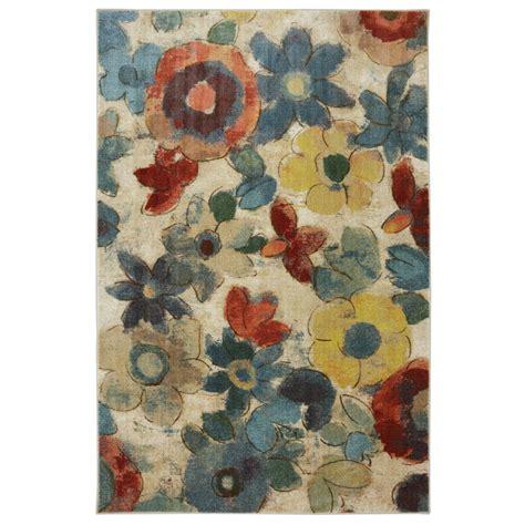 multicolor rug shop mohawk home wildflower multicolor rectangular indoor tufted area rug common 5 x 8
