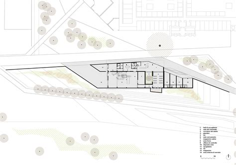 crematorium floor plan new crematorium in copparo patrimonio copparo archdaily