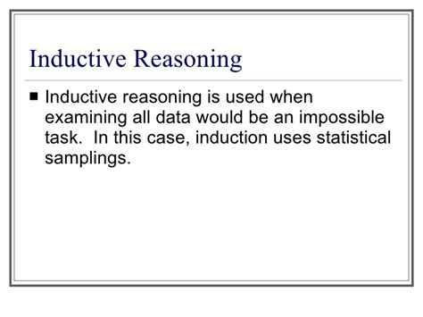 pattern recognition reasoning introduction to inductive and deductive reasoning