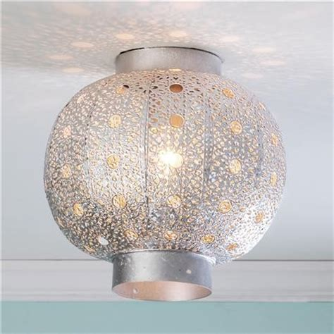 pierced moroccan metal globe ceiling light shades of