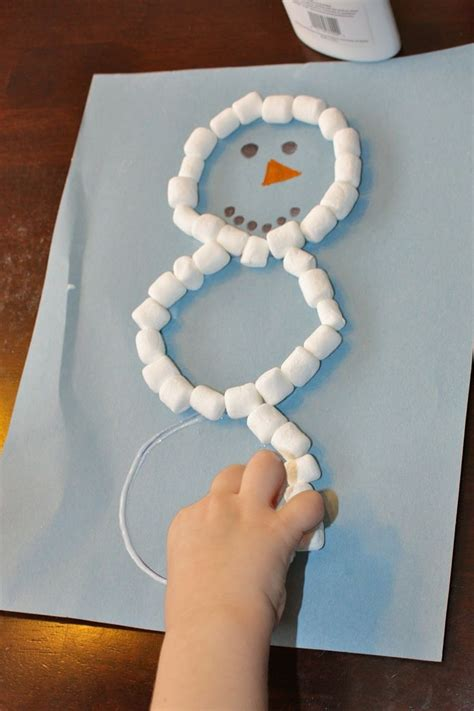 preschool christmas craft mini marshmallow snowman i