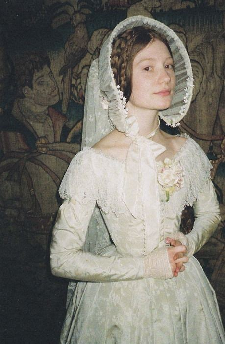 possible themes for jane eyre mia wasikowska as jane eyre wearing her lovely wedding