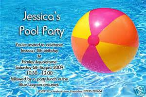 10 personalised swimming pool invites invitations ebay