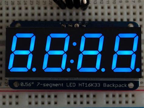 Yellow Decimal 0 36 4 Digit Led Display 7 Segments Kuning Tm1637 adafruit 0 56 4 digit 7 segment display w i2c backpack blue id 881 11 95 adafruit