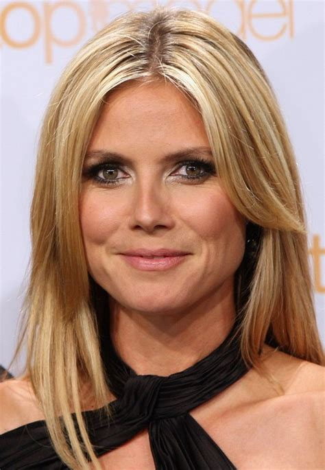 Heidi Klum Long Hairstyle: Layered Hair   Pretty Designs