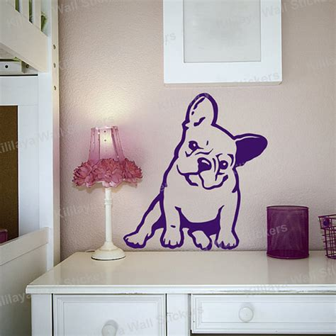 removable wall decals for living room french bulldog melancholy dog pet vinyl wall sticker