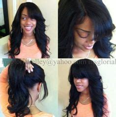 pony tail weave technique full sew in weave braidless sew in using the malaysian