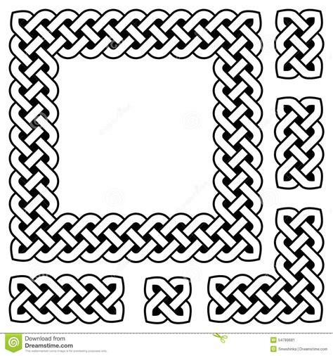 celtic design elements vector black and white celtic knot frame and design elements