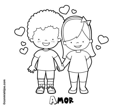 imagenes de amor para colorear para niños dibujos ninos enamorados para colorear y tattoo tattooskid