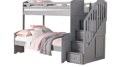step bunk beds cottage colors gray step bunk bed