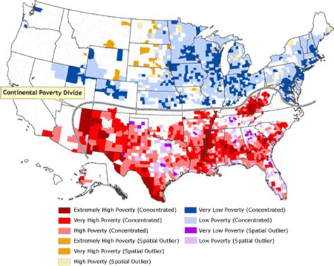 map us poverty us poverty map with divide