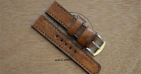 Handmade Leather Bands - centaurstraps handmade leather straps lava brown