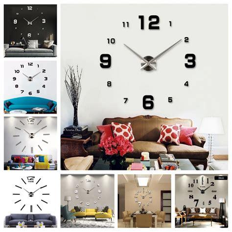 diy 3d home design new diy 3d home decoration wall clock big mirror wall