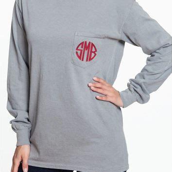 comfort colors long sleeve custom long sleeve comfort colors pocket tee from sunbirdway on etsy