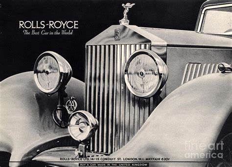 rolls royce 1940s uk cars drawing by the advertising archives