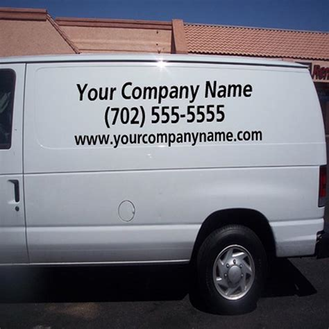 Auto Decals For Business by Rear Window Auto Decal Vinyl Letters Promote Your Business