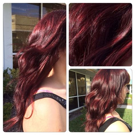 sangria hair color sangria haircolor done with redken shades eq