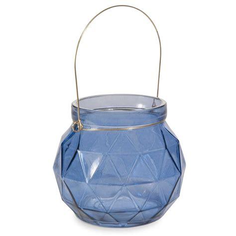 Kerzenhalter Aus Glas by Kerzenhalter Aus Blauem Glas H 11 Cm Origami Maisons Du