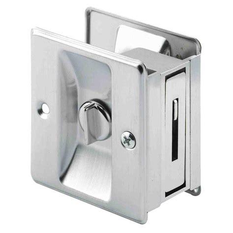Prime Line Satin Nickel Pocket Door Privacy Latch Shop Glass Pocket Door Hardware