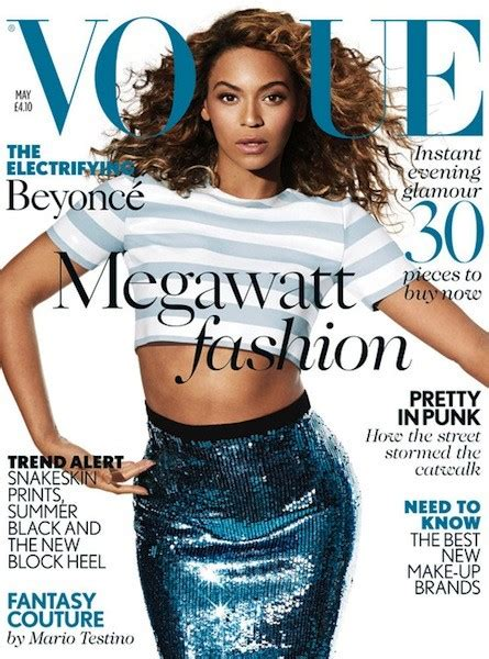 Beyonce On May Cover Of Vibe by Beyonc 233 Covers Vogue Says Blue