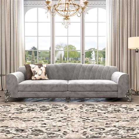 grey sofa classic luxury nubuck leather grey sofa