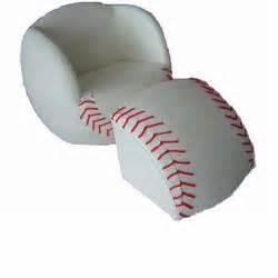 baseball chair with ottoman giftmark 6740 children s upholstered baseball chair with